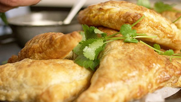 Matt Stone's re-pie-cled curry puff pastry parcels