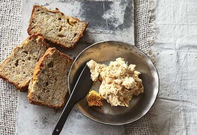 "Recipe:&nbsp;<a href=""http://kitchen.nine.com.au/2016/05/05/11/02/mark-bests-banana-bread-with-honeycomb-butter"" target=""_top"" draggable=""false"">Mark Best's banana bread with honeycomb butter</a>"