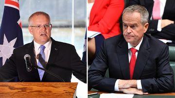 News politics Australia Federal election Scott Morrison Bill Shorten campaign ad spending