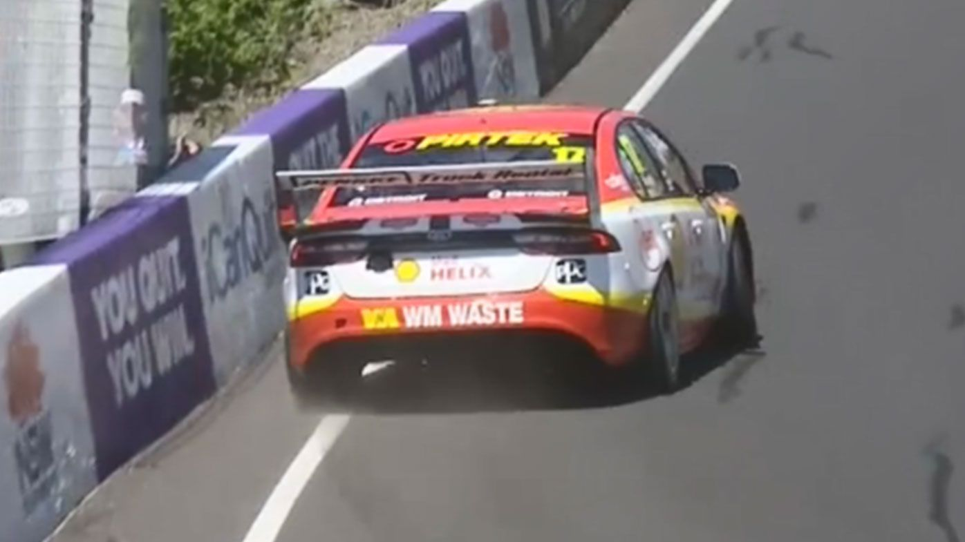 Scott McLaughlin inches from disaster after dangerous turn at Mount Panorama