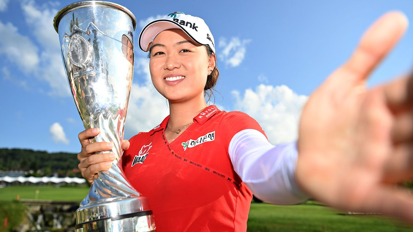 Aussie golf star wins first major title in playoff