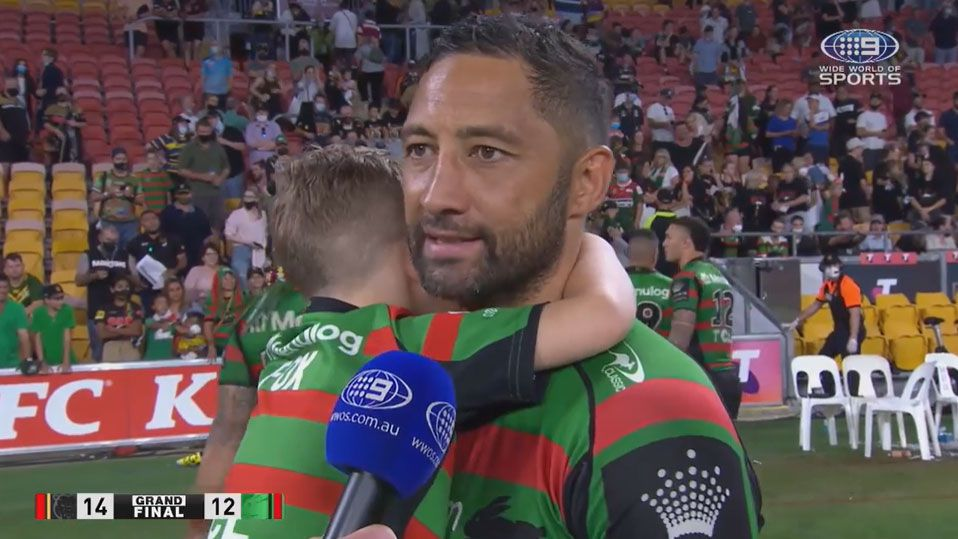 NRL legend Benji Marshall contemplates his future after losing grand final with Rabbitohs