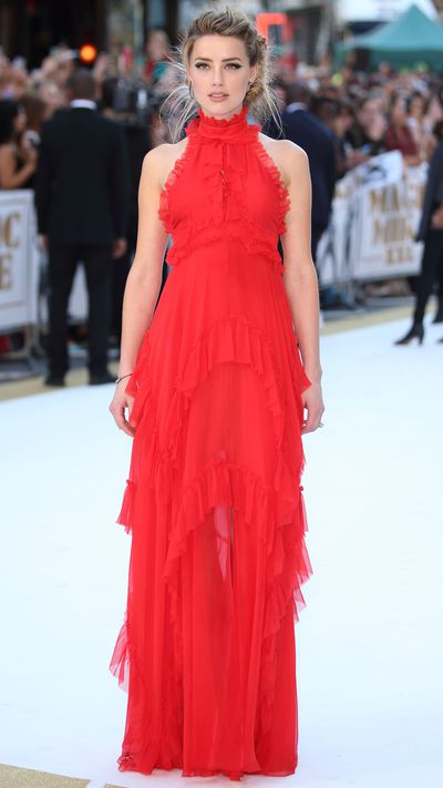 <p>In Emilio Pucci at the London premiere of 'Magic Mike XXL'.</p>