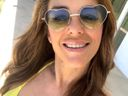 Liz Hurley shows off her 'sunshine bikini'