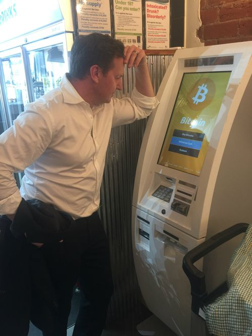 A Current Affair reporter Steve Marshall pondering the mysteries of Bitcoin.