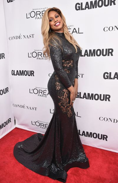 Laverne Cox at the Glamour Women of the Year Awards, November 13.