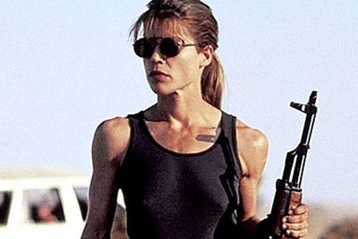 Don't you hate it when a cyborg wants you dead? Not when you're Sarah Connor, who's game enough to take on the Terminator (Arnold Schwarzenegger).