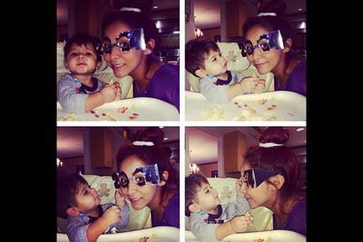"""@snookinic: """"Celebrating with my munchkin."""""""
