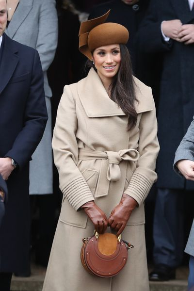 Meghan Markle in Sentaler on Christmas Day, December 2017<br>