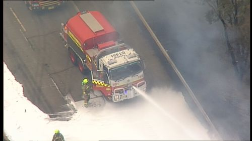 Fire crews are getting on top of the blaze, a NSW RFS spokesperson said. (9NEWS)