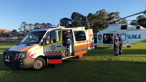 An infant has been airlifted to hospital after a tent collapse. (NSW Ambulance)