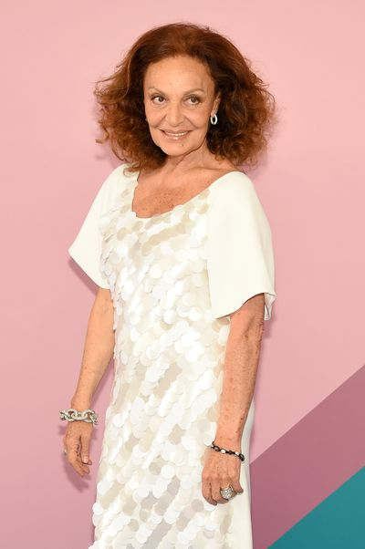 CFDA president Diane Von Furstenberg at the 2017 CFDA Awards.