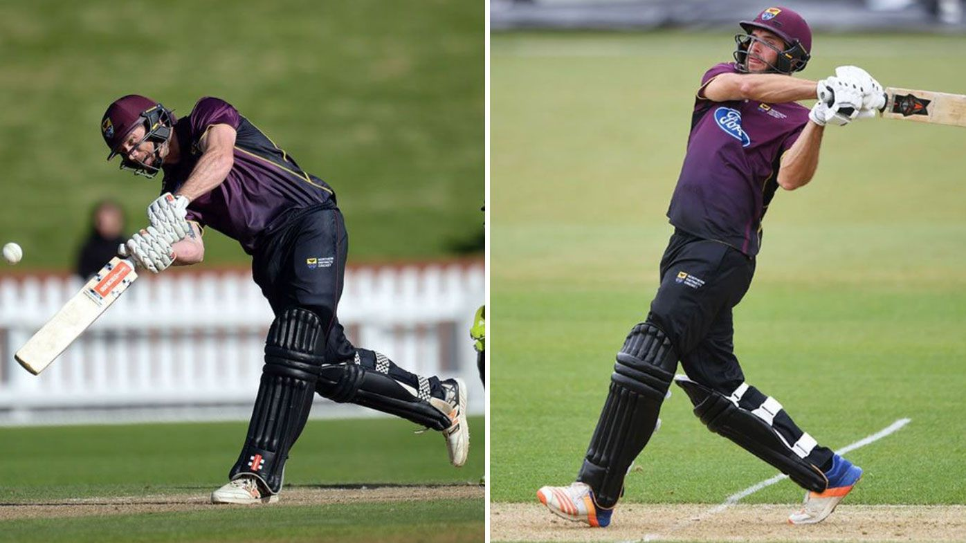 Kiwi batting pair set new cricket world record for most runs scored in an over