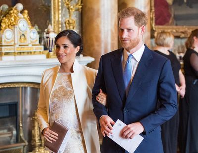 Meghan and Harry attend the anniversary of Prince Charles' Investiture, March 2019
