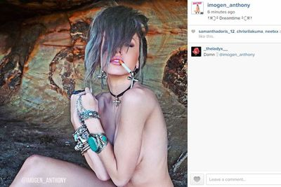 "Model Imogen Anthony just shared a seriously hot nude selfie to her Instagram, captioned: ""Dreamtime.""<br/>"