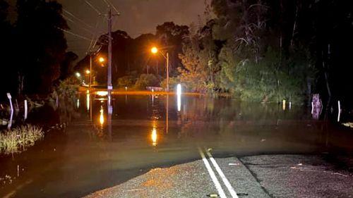 Flooding in Schofields, Sydney.