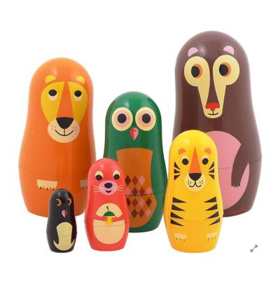 <p>Hide knick-knacks in this cute set BPA-free plastic nesting animal dolls.</p> <p></p>