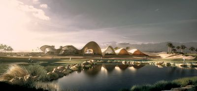 """Ayla Golf Academy & Clubhouse by <a href=""""http://oppenoffice.com/"""" target=""""_blank"""">Oppenheim Architecture</a>, Jordan."""