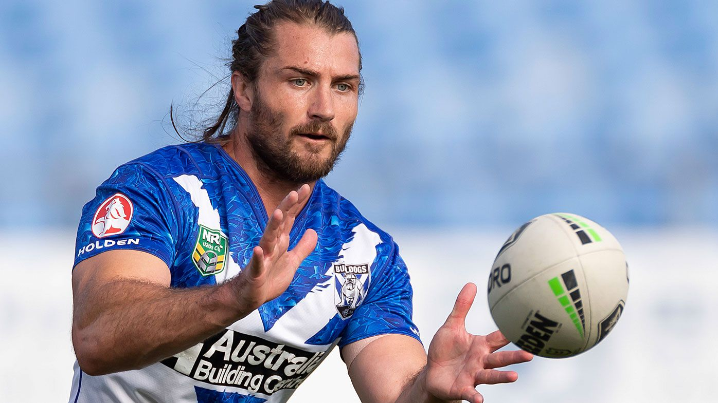 Kieran Foran during a Bulldogs NRL training session