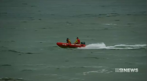 Lifeguards continued to search frantically for Junaid after bringing five family members back to shore.