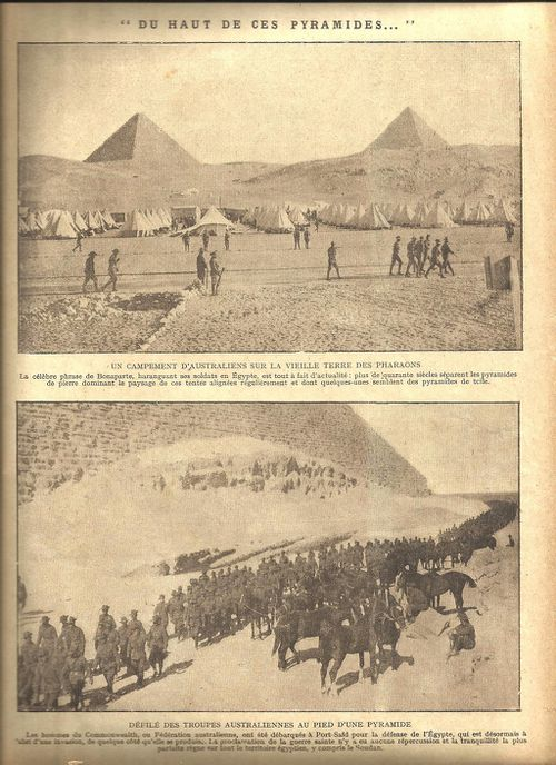 "Page four of the same newspaper. The title is translated as: ""From the top of these pyramids."""