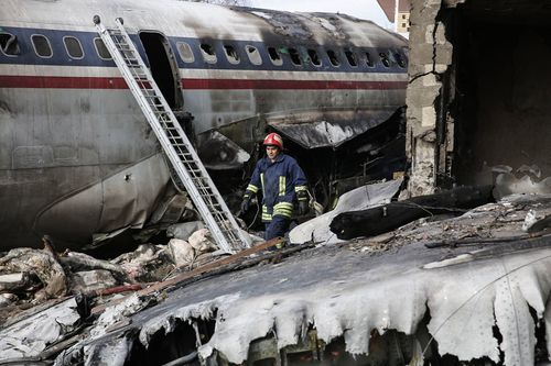 Boeing 707 cargo plane that crashed in Iran this morning.