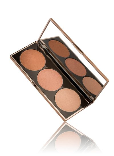 "<a href=""https://nudebynature.com.au/shop/make-up/top-products/highlight-palette/"" target=""_blank"">Nude by Nature Highlight Palette, $39.95.</a>"