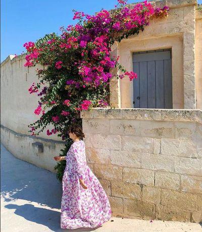 Zoë Foster Blake wearing Bottega Egnazia in Europe