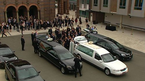 Hundreds gathered at St Mary's Catholic Church in Concord on Wednesday. (9NEWS)
