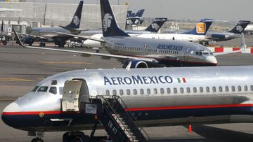 File photo of Aeromexico planes.