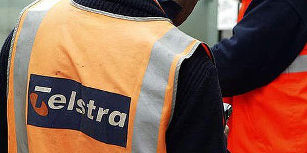 Telstra worker