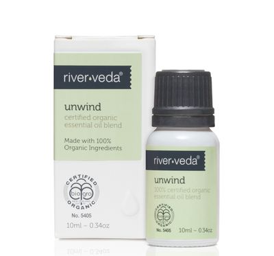 """<a href=""""https://www.worldorganic.co.nz/skin-care-products/Essential-Oil-Blend-Unwind"""" target=""""_blank"""">River Veda Aroma Spa Essential Oil in Unwind, $34.</a>"""
