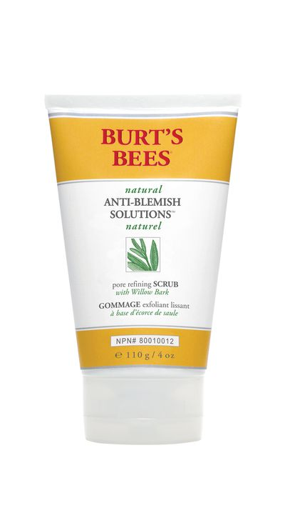 """<p><a href=""""http://www.burtsbees.com.au/natural-products/face-facial-scrubs-toners/natural-anti-blemish-solutions-pore-refining-scrub.html"""" target=""""_blank"""">Anti-Blemish Solutions Pore Refining Scrub, $19.95, Burt's Bees</a></p>"""