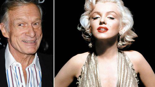 Hugh Hefner and Marilyn Monroe. (AAP)