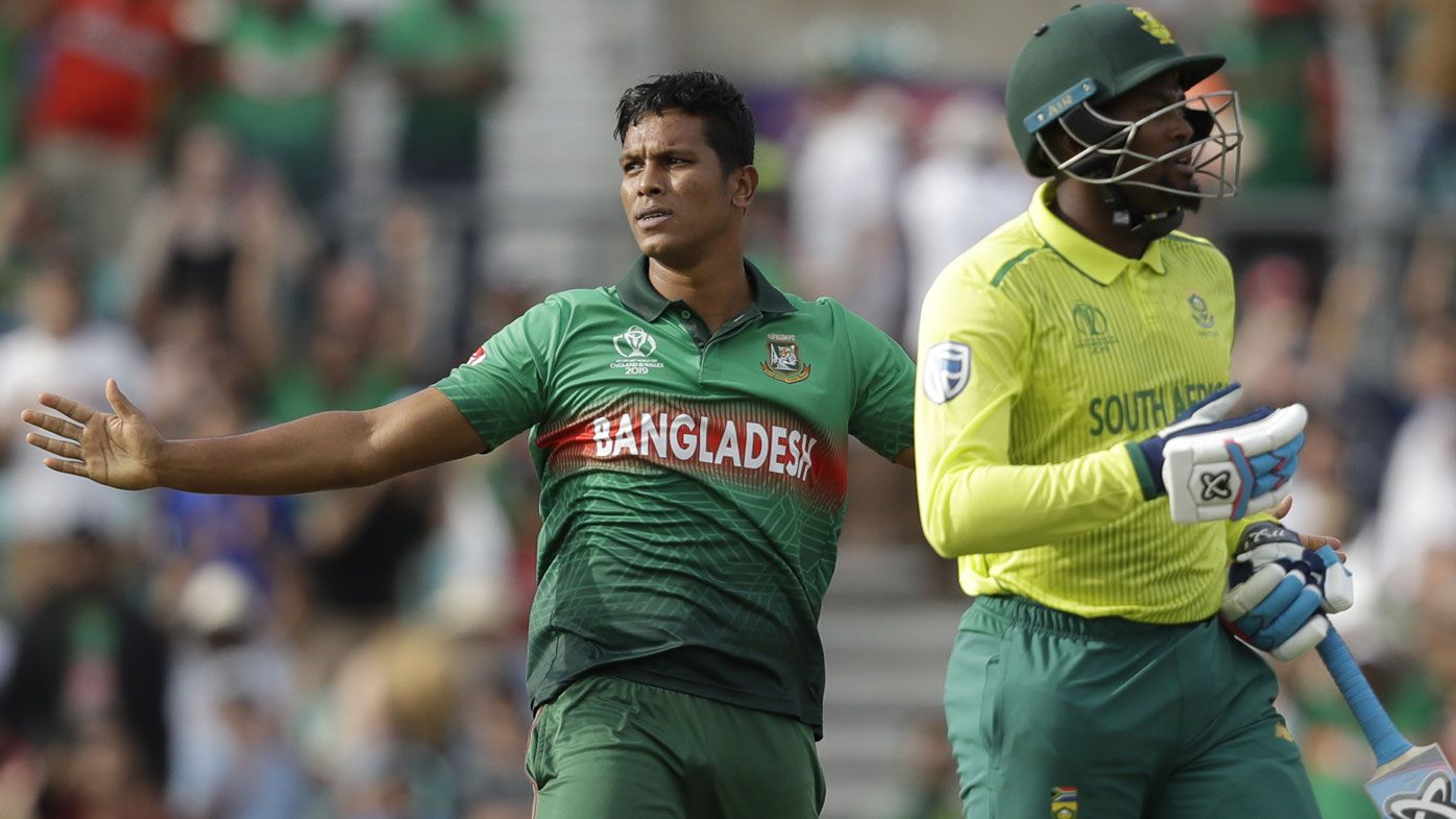 Bangladesh stuns 'self-sabotaging' South Africa in Cricket World Cup upset