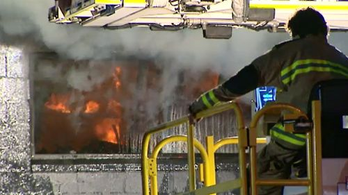 The Nerang shop was extensively damaged. (9NEWS)