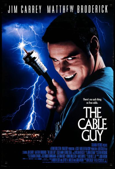 Jim Carrey stars in the 1996 movie The Cable Guy.