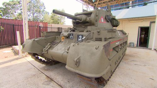The tank has been restored to pristine condition after being left abandoned for seven decades. (9NEWS)
