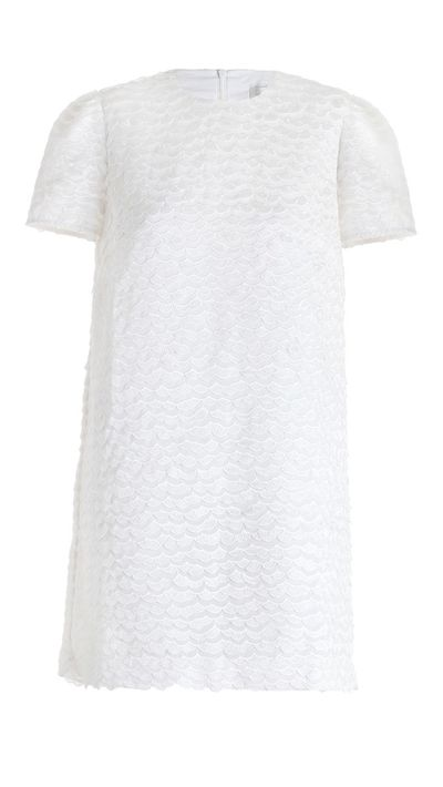 "<p><a href=""http://www.zimmermannwear.com/the-latest/rhythm-wave-shift-dress-winter-white.html"" target=""_blank"">Dress, $450, Zimmermann</a></p>"