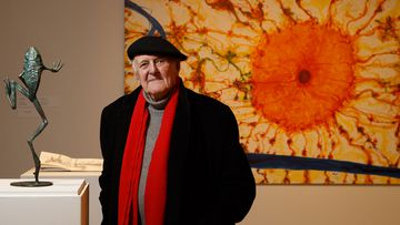 Artist John Olsen in Newcastle.