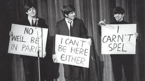 Paul McCartney, George Harrison and Ringo Starr back in the day.