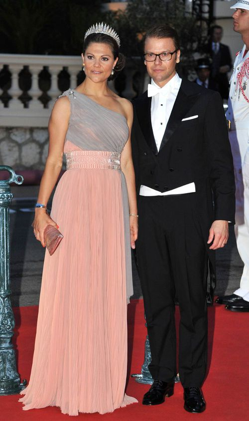 Crown Princess Victoria and Prince Daniel attend the official dinner following the wedding of Prince Albert II and Princess Charlene of Monaco in 2011. (PA)