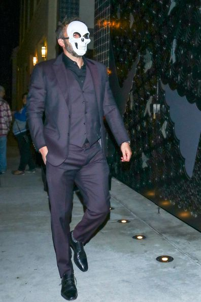 Ben Affleck is seen attending a masquerade ball in October 2019