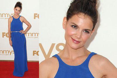 Did she raid Angelina Jolie's red carpet closet?