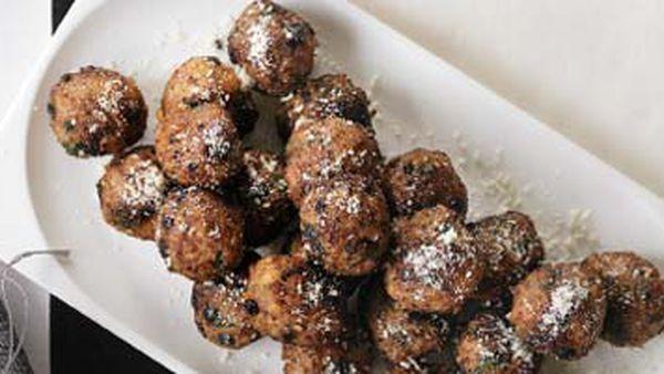 Parmesan-dusted meatballs