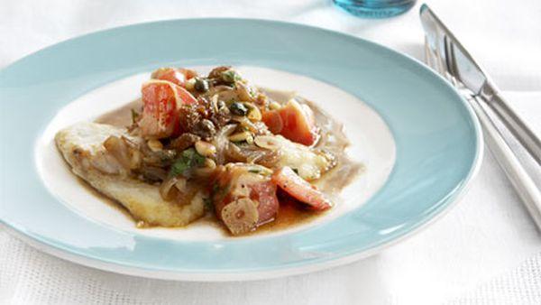Sicilian agrodolce fish