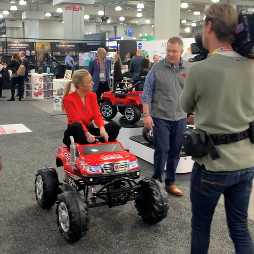 9News US Correspondent Alexis Daish remembers happier memories at the Javits Centre when she attended a toy fair there just last month.
