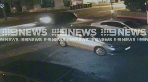 CCTV showed the stolen car speed north down Railway Parade towards Rockdale.