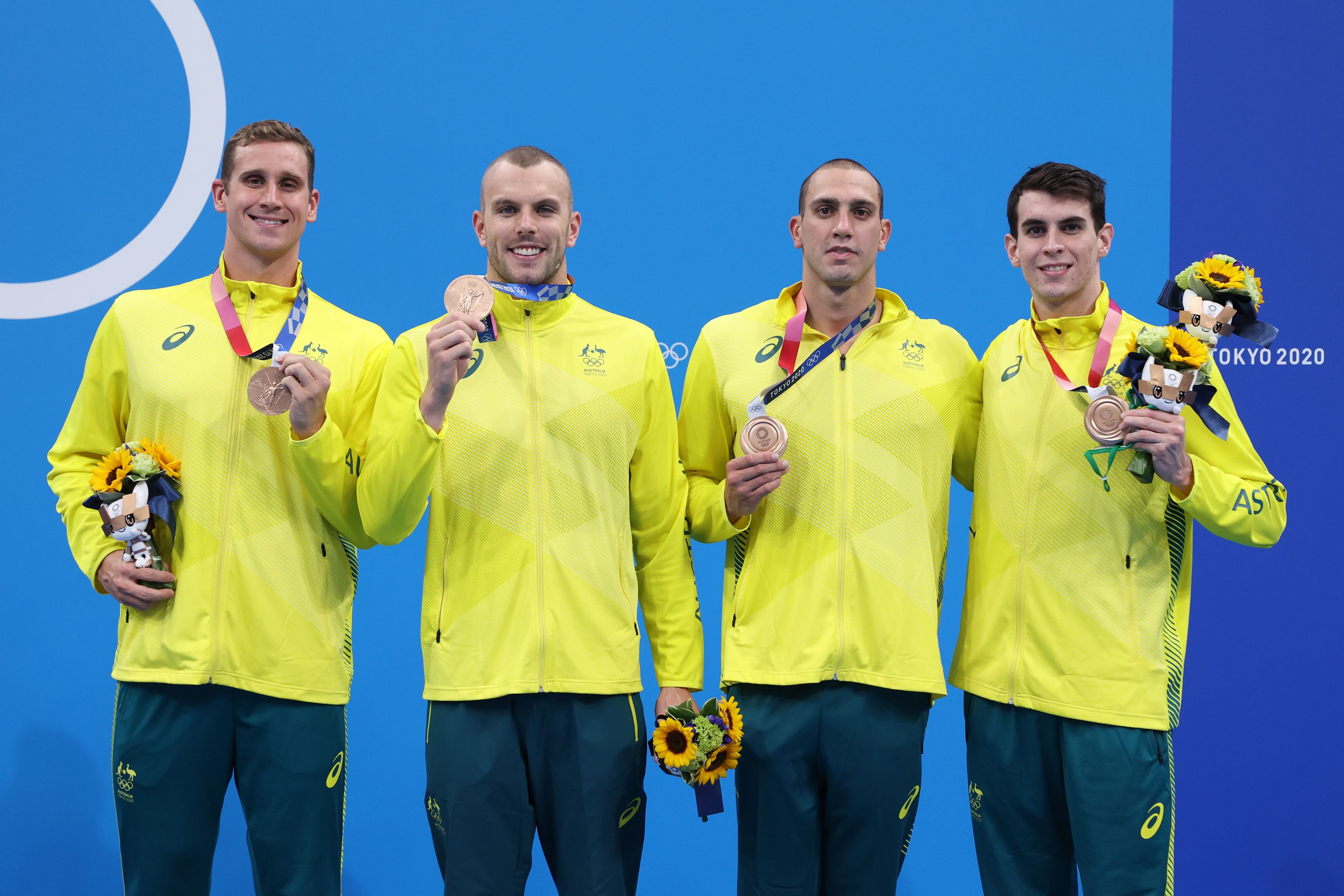 Australia claims bronze as Team GB flex muscles to win 4x200m relay gold