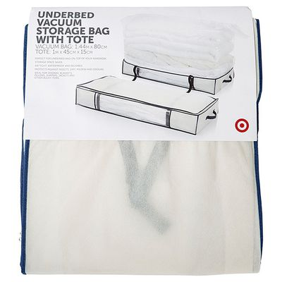 "<a href=""https://www.target.com.au/p/underbed-vacuum-storage-bag-with-tote/58805688"" target=""_blank"">Target Under Bed Storage Bag, $15.</a>"